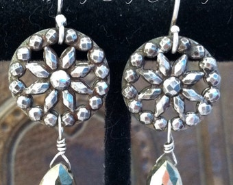Antique Button Earings