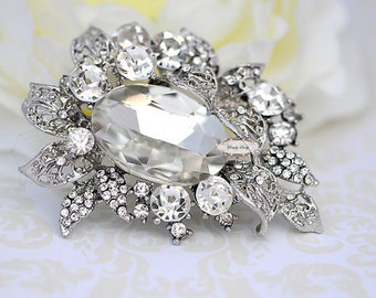 Rhinestone Brooch Embellishment - Flatback - Embellishment Buttons - Brooch Bouquets - Broach Bouquet Supplies - DIY Wedding - Jewelry RD281