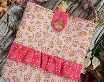 Christmas Toddler Purse,  Little Girl's Purse, First Purse, Gingerbread Purse