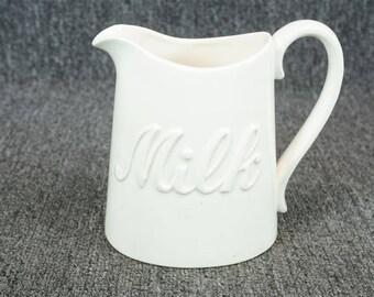 The Haldon Group White Porcelain Milk Pitcher C. 1989