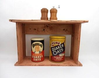 Rustic Shelf, Pallet Wood Shelving, Primitive Wall Cubby, Rustic Shadow Box, Wood Shelving, Live Edge Shelf, Rustic Cubby, Primitive Shelf