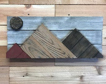 Reclaimed Wood Mountains Mountain-scape