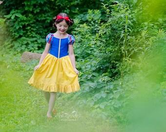 Snow White - Princess Inspired Dress - Sizes 6/12 months through 10