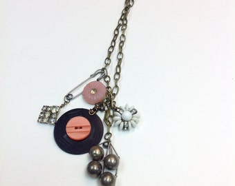 A Pretty in Pink Vintage Pendant Necklace