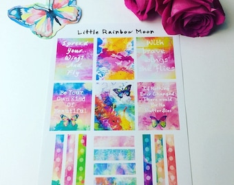 Butterfly Garden - Planner/Journal stickers