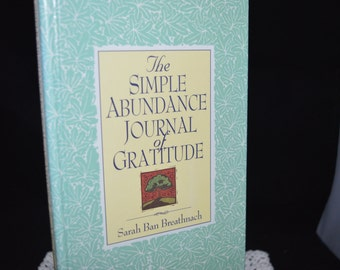 Simple Abundance / Journal of Gratitude / gratitude journal / journal / book / blank book / blank journal / diary / Journal of Graditude
