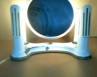 Vintage Art Deco Vanity Mirror(Steel) BEL AYRE Lighted Working NICE *********