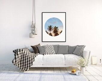 Palm Tree Poster, Palm Art Print, Tropical Wall Decor, Summer Wall Art, Palm Tree Photography, Tropical Art Print, Summer Decor,  A4, A3