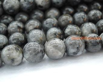 """15.5"""" 6mm Black Labradorite round beads, Larvikite beads, black gemstone, semi-precious stone, Larvikite 6mm round beads"""