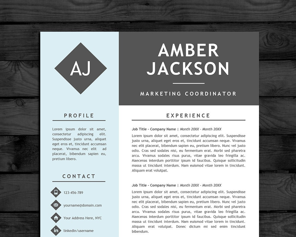 Resume Template Cv Template With Photo Pc Mac Free Cover