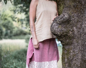 Cozy skirt from khadi cotton.. with 2 pockets)))