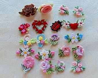 Appliques, Floral Appliques for Sewing, Crafts, Vintage Appliques