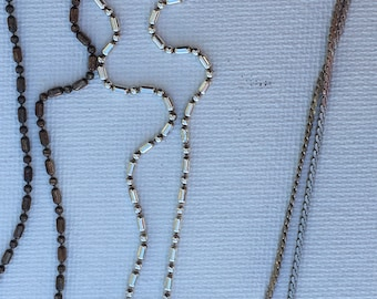Lot of 3 Sterling Silver Necklace Chains