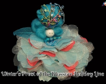 Winter's Frost of the Blossom Holiday Line, Fairy, Faerie, OOAK, Doll