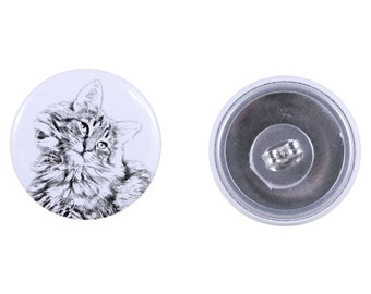 Earrings with a cat -Norwegian Forest cat