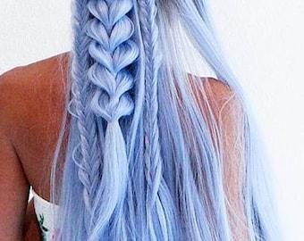 Pastel Blue Ombré Lace Front Wig