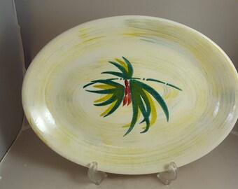 "Vernon Kilns Shadow Leaf 13 1/2"" Platter"