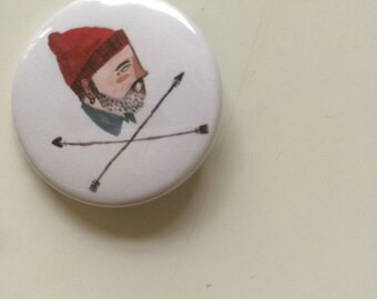 Steve Zissou Life Aquatic pin badge