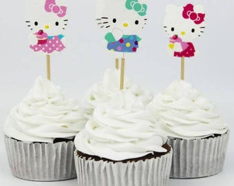 Cup cake pick Hello Kitty