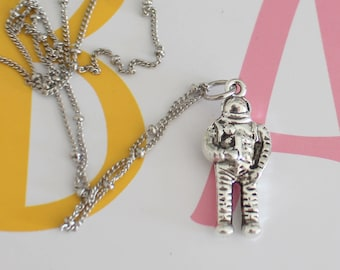 The ASTRONAUT Necklace.....earth. outerspace. NASA. space craft. retro. urban. hipster. blast off. moon. universe. 3D charms. gift for her