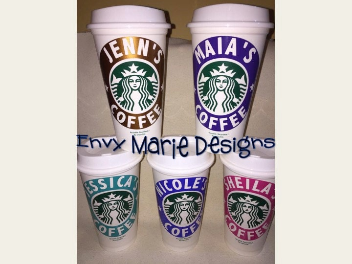 Personalized starbucks cup reusable coffee cup 16oz reusable zoom pronofoot35fo Choice Image