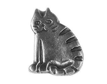 Danforth Barn Cat 3/4 inch ( 20 mm ) Pewter Shank Button