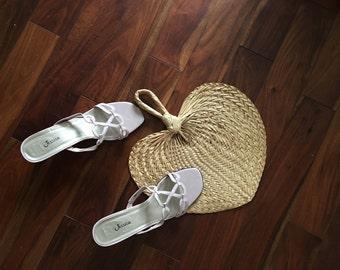 Vintage blush pink strapoy mules, vintage Jessica pink mules, vintage shoes, womans shoes, slides and mules, sandals, spring shoes