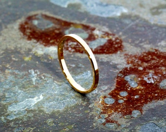 Simple 14K Yellow Gold Flat Knuckle Ring