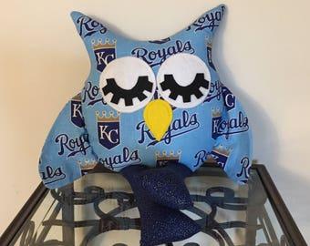 Kansas City Royals Handmade Stuffed Owl