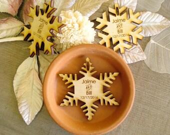 150 Snowflake Wedding Favors