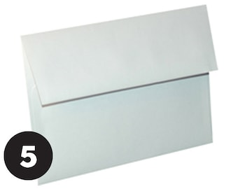 A7 Envelopes for 5 x 7 Invitations, Photos  and Cards, White, Set of 5