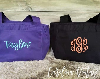 Personalized Lunch Bag | Monogrammed Lunch Box | Kids Lunch Bag |