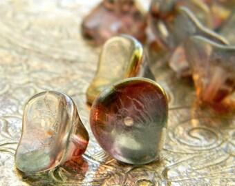 Rainbow's Trumpet (12) -Czech Glass Bell Flowers 10x12mm