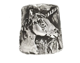 Unicorn Ring       large silver gold jewelry statement