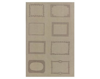 Quilt Labels~French General Roche-Grey~Panel 24in x 44in Cotton Fabric By Moda