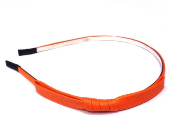 Headband bow - orange