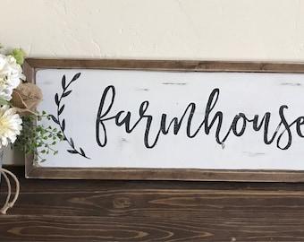 Farmhouse sign | Fixer Upper Style | Farmhouse Decor | Shabby Chic
