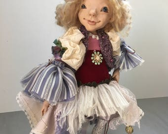 One Of A Kind Doll, Collectible doll, Boudoir Doll, Fully Posible Doll Petra