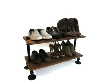 Shoe Rack, Industrial Wood Shoe Rack, Shoe Storage, Shoe Organizer, Wood Shoe Rack, Shoe Holder, Industrial Shoe Rack, Industrial Storage