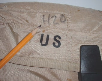 US Army 2-Quart khaki canteen carrier, GP strap and canteen circa 1998