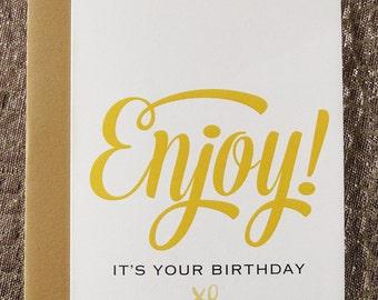 Happy birthday; Celebration; Enjoyment; typographic