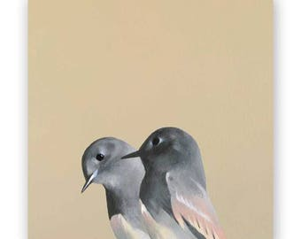 Fictional Pair - 8 x 8 Wings on Wood Decor