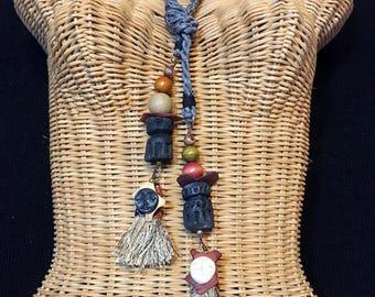 Textile Neckpiece OOAK Travel-Ready