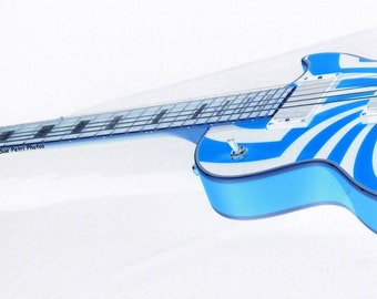 Blues Guitar, Fine art photography, Guitar Photos, Still Life Photography, Gifts for guitar teachers, blue and white, digitally manipulated