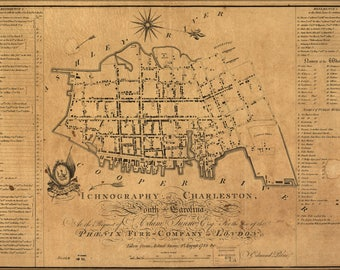 Poster, Many Sizes Available; Building Map Of Charleston South Carolina 1790