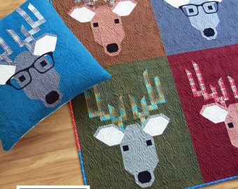Elizabeth Hartman Dwight The Deer Quilt Pattern Quilting Sewing Fabric EH 029