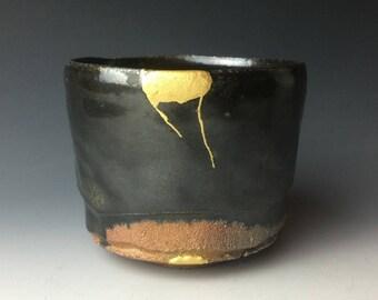 Black Karatsu Tea Bowl