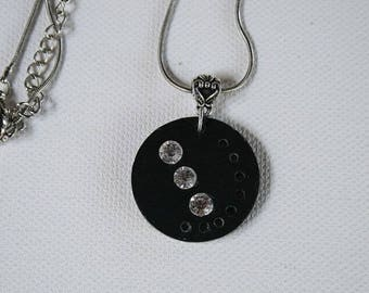 Necklace in Slate and diamonds FAC21