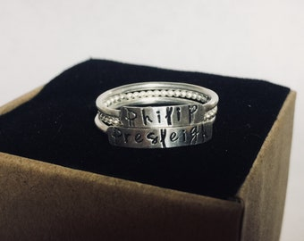 Stacked Name Rings