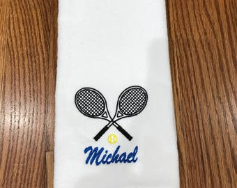 Personalized Tennis Towel